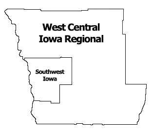 Region 2 West Central Iowa Regional Map