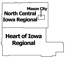 Region 3 North Central Iowa Regional Map