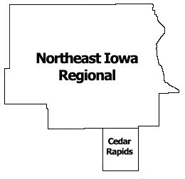 Region 5 NE Iowa Regional Map