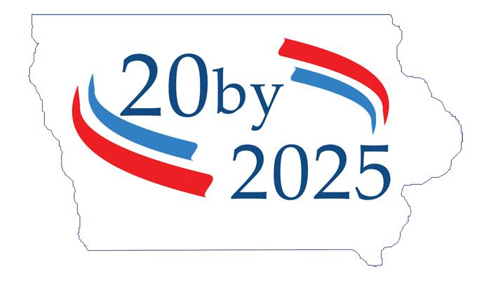20 by 2025 logo