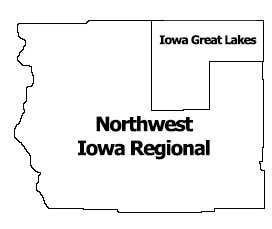Region 1 NW Iowa Regional Map
